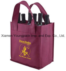 Promotion Boutique réutilisable de Bourgogne Bouteille de vin Sac en tissu
