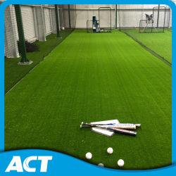 Verde verde oliva del soporte del béisbol del césped artificial australiano de la hierba