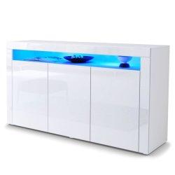 Haute brillance UV MDF Dressoir blanc avec LED