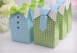 Het Suikergoed van het Document van het Vakje van de Gift van de Verjaardag van de Zakken van het Suikergoed van het Document van de Vakjes van de Gunst van het suikergoed behandelt Zakken voor de Levering van de Partij van het Huwelijk van de Douche van de Baby met het Blauwgroene Lint van de Vlinderdas