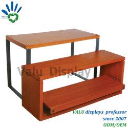 Boutique de vente au détail de vêtements Vêtements Statif de Table en bois 1 jeu avec 2 niveaux