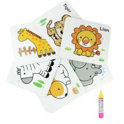 Crianças Double-Side Placa do Cartão de desenho de água e Puzzle