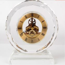 Relógio de mesa de cristal promocional Crystal Dom para Business loja de presentes