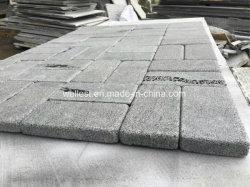 Grijze het Bedekken van de Baksteen Steen 10X20X3cm van de Lava tuimelt