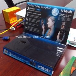 Audio di Plasitc/video visualizzazione acrilica su ordinazione del campanello/banco di mostra senza fili del campanello
