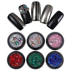Ab de couleur rose Champagne Rhinestone Crystal Beads Caviar Sharp bas 3D Nail Art Decoration