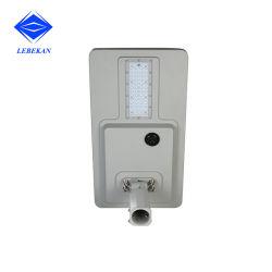 전기 30W 40W 60W 없이 100W는 1개의 LED 태양 가로등에서 모두를 통합했다