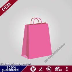 Manípulo de compras de qualidade superior Fantasia Branca jóias de embalagens de papel o logotipo personalizado de folha de ouro de saco de papel