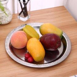 Plats en acier inoxydable Apple les plaques de fruits