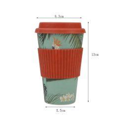 420ml biodégradable réutilisables garder Fibre de bambou Thé à emporter/ tasses à café avec couvercle en bambou
