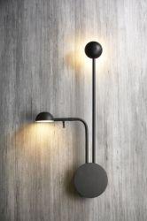 振動アーム(MB-11870-2)を搭載する現代2ライト5W LEDの壁ライト