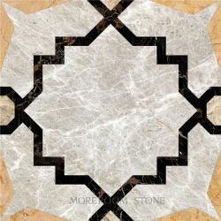 Wasserstrahlmarmorfliese 24*24 mit Entwurfs-Muster für Fußboden