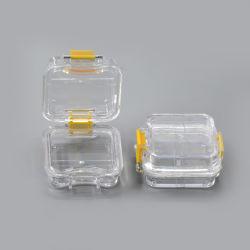 واضحة بلاستيكيّة أسنانيّة طقم أسنان صندوق مع غشاء