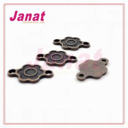 Anti cuivre métallique d'un insigne pour les pantalons pour les vêtements d'étiquette de métal