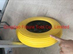 مواد الفولاذ للخدمة الشاقة 4.80/4.00-8 PU ذات العجلة الحرة المسطحة