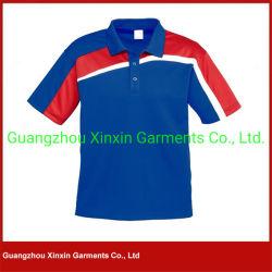 La funda corta del Mens crea la camisa de polo para requisitos particulares de los deportes (P90)