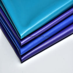 Aufbereitetes Kunstleder-Gewebe synthetisches Nubuck gebräuntes PU-Chemiefasergewebe-Leder