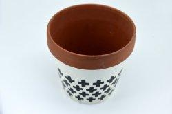 De Potten van het terracotta met Gat van de Drainage van de Pot van de Potten van de Bloem van de Cactus van de Planter van het Aardewerk van de Klei van de Pot van de Klei van de Schotel het Ceramische Succulente