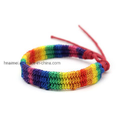 Handmade tresse Bracelet irisées charmant Rainbow bracelets de couleur d'enrubannage