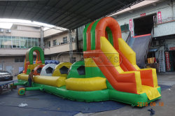 Almofada insuflável populares recentemente Wipeout obstáculo grande salto de bolas de jogo de desporto