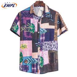 2020 Flex Fabric hawaïen Couleurs assorties Type Men's shirt décontracté