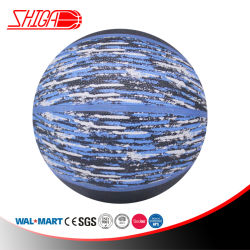 Promotion de cuir synthétique durable en PVC plastifié Ballon de basket-ball de sport
