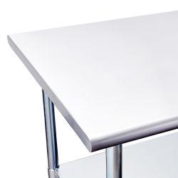 Mesas de café italiano mesa de comedor de diseño en Acero inoxidable plegable de acero inoxidable Workbench
