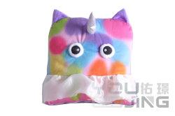 レースのプラシ天の柔らかい動物の枕との紫色の基礎ファブリックユニコーン