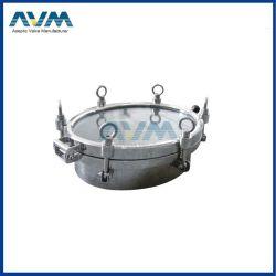 Pegas de aço inoxidável 600mm pressão sanitárias Porta de inspeção circular