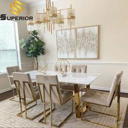 Moderne Hauptmöbel-langer Speisetisch für 6 Sitzstühle