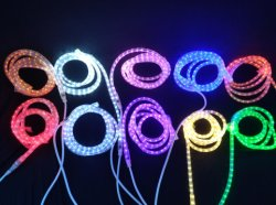 Festival de Chirstmas decorativa redonda LED de 2 hilos Ropelight 110V/220V 12V/24V Iluminación LED