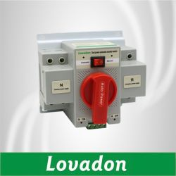 가장 새로운 단일 위상 63A 2p AC 소형 전압 이중 힘 ATS 발전기를 위한 좋은 품질을%s 가진 자동적인 이동 스위치 220V
