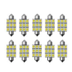 LED カーフェストン 9SMD 9 LED 5050 LED ファストン LED 車のスタイリング白のための Festoon ライトインテリアドームランプバルブ 12 V