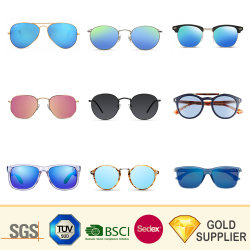 A China o logotipo personalizado de atacado de forma barata aos olhos de gato estilo retro desportivo da estrutura de metal plástico Madeira Ray Band Polorized óculos de sol para presente de promoção da lente