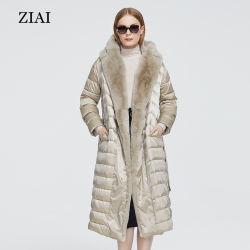 Venta caliente largo invierno caliente Correa Windproof Moda Invierno chaqueta acolchada Puffer chaqueta con ropa de abrigo de pieles de conejo señoras