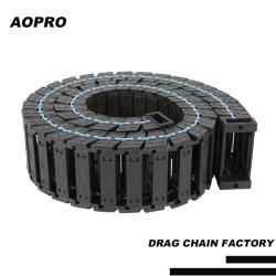 Nylon Towline puente de la apertura de la cadena de arrastre de cable de plástico de la cadena de portador paraRouter CNC máquina