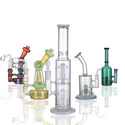 Novo Design Zhongsheng Fumar Reta Grande Tamanho para tabaco Hookah água de vidro de Sisa