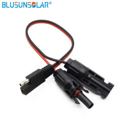 Аккумуляторная батарея быстро торгов кабель с разъемом SAE W/ SAE 14AWG питание постоянного тока с MC4 солнечная панель клеммы проводов Deltran прицепа