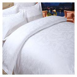 200tc Branco folha plana de tamanho King Hotel roupa de cama de algodão (CCI775)