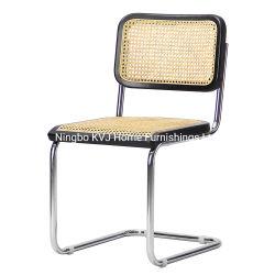 Kvj-9103 Populares Design em aço inoxidável Cadeira Cesca Faia de vime
