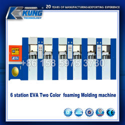 6 stations couleur Double Machine de moulage par la formation de mousse EVA