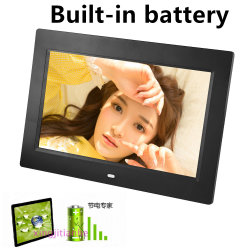 10 polegada moldura fotográfica digital LED, bateria 2-3h