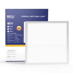 Keou New Indoor Optical Lens LED チップ超薄型フラットパネル LED 40W 60*60 正方形フラット LED パネル天井照明、温白色