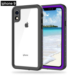 Voller Cover DOT Side Transparent Protection Waterproof TPU PC Phone Fall für iPhone Xs Xr Xs max