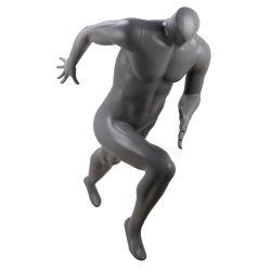 Ledenpop van de Mannequin van de Sporten van de Mensen van de Vertoning van de Glasvezel van de atletiek de Matte Zwarte Mannelijke