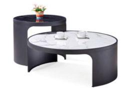 Table basse ronde pour le Bureau canapé avec base de métal
