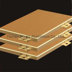 Liga de alumínio de cores metálicas modernas painel sólido