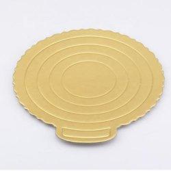 Feuille de papier blanc de gros Rectangle d'or gâteau rond d'administration