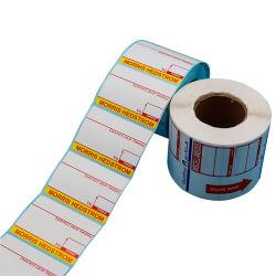 사용자 지정 열 레이블 스티커 방수 방수형 안티부틸링 강력한 접착제 인쇄 종이 롤