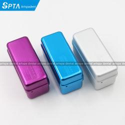 3색 고온 72홀 알루미늄 오토클레이브 소독기 케이스 버 Dental Disinfection Endo Files Holder Box for Oral Care Tools(구강 관리 도구용 에도 파일 홀더 상자)